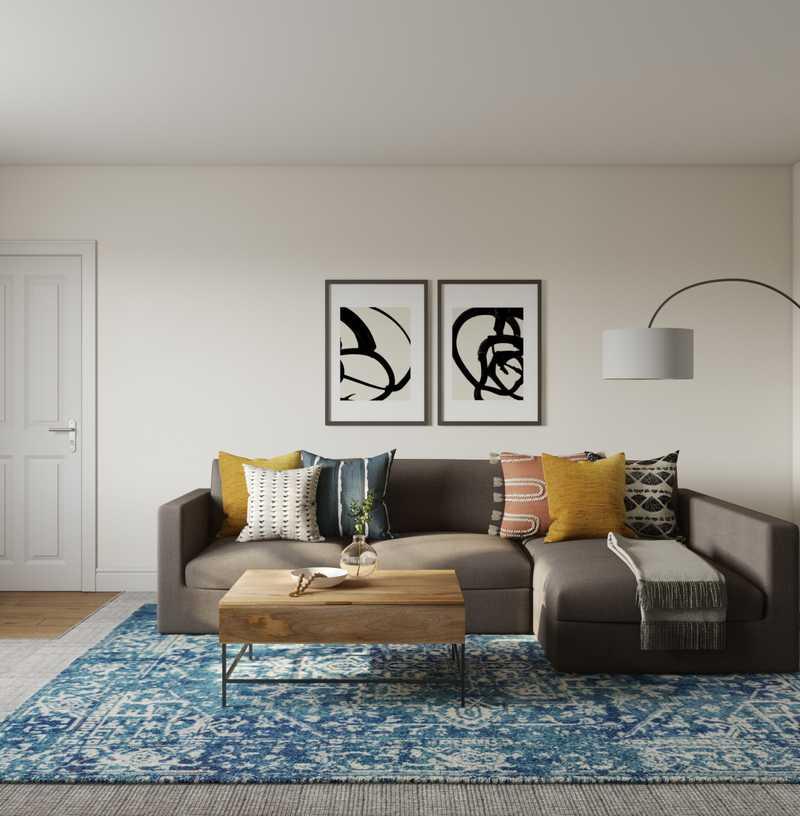Contemporary, Modern Living Room Design by Havenly Interior Designer Sarah