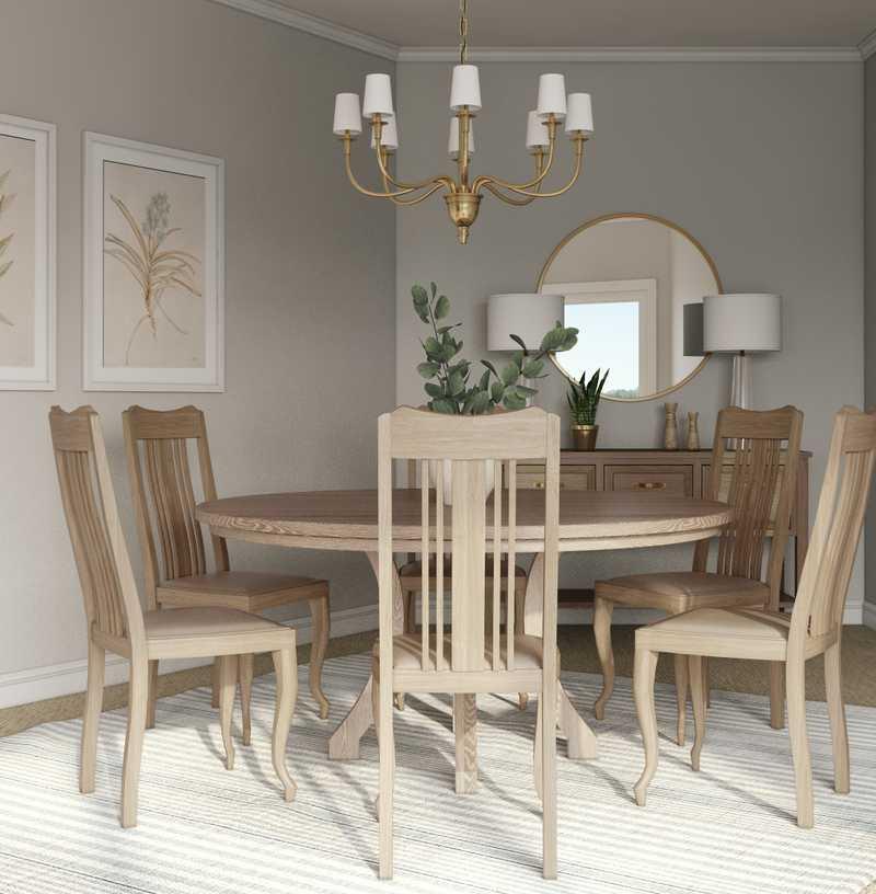 Modern, Coastal Dining Room Design by Havenly Interior Designer Tara