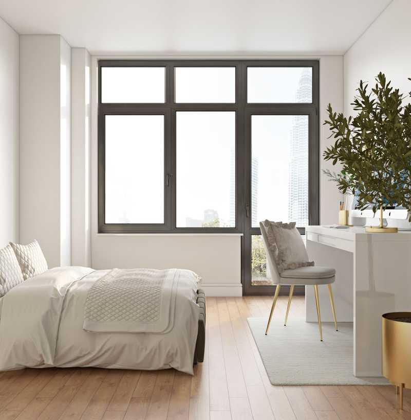Midcentury Modern, Minimal, Scandinavian Office Design by Havenly Interior Designer Kristina
