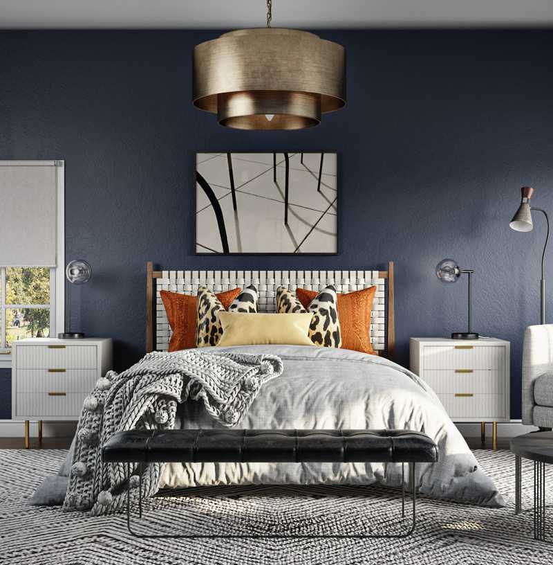 Eclectic Bedroom Design by Havenly Interior Designer Karen