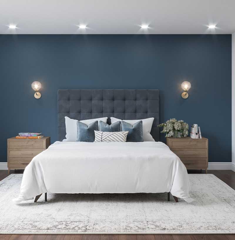 Modern, Minimal Bedroom Design by Havenly Interior Designer Kelcy
