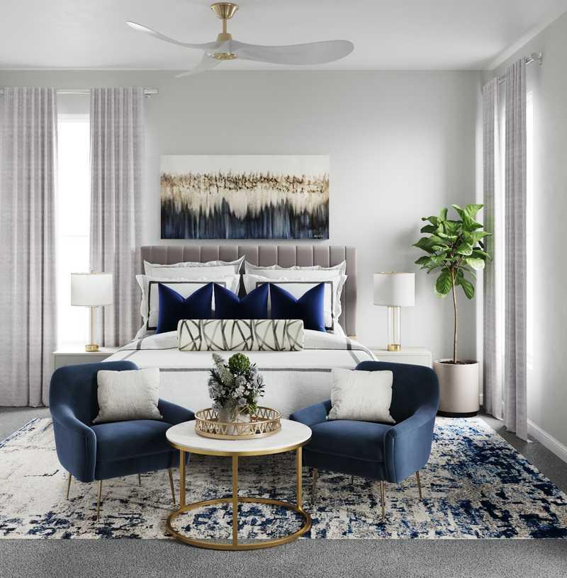 Glam Bedroom Design by Havenly Interior Designer Cathrine