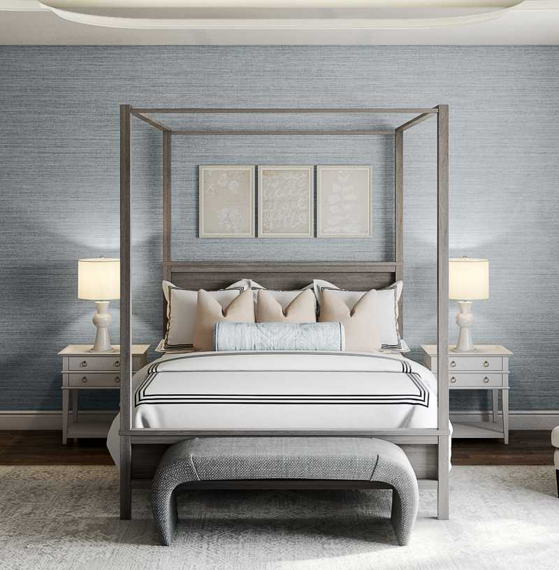 Classic, Coastal, Traditional, Transitional Bedroom Design by Havenly Interior Designer Lisa