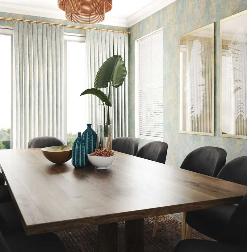 Contemporary, Eclectic, Midcentury Modern Dining Room Design by Havenly Interior Designer Apoovra