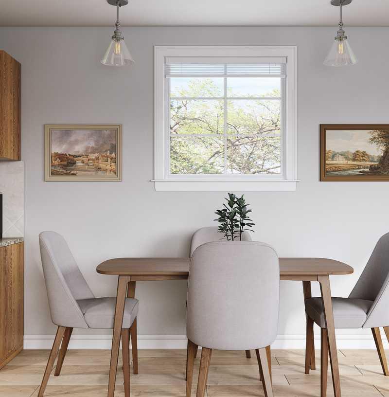 Modern, Bohemian, Global, Midcentury Modern Living Room Design by Havenly Interior Designer Laura