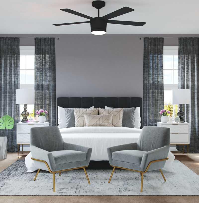Contemporary, Modern, Glam Bedroom Design by Havenly Interior Designer Alicia