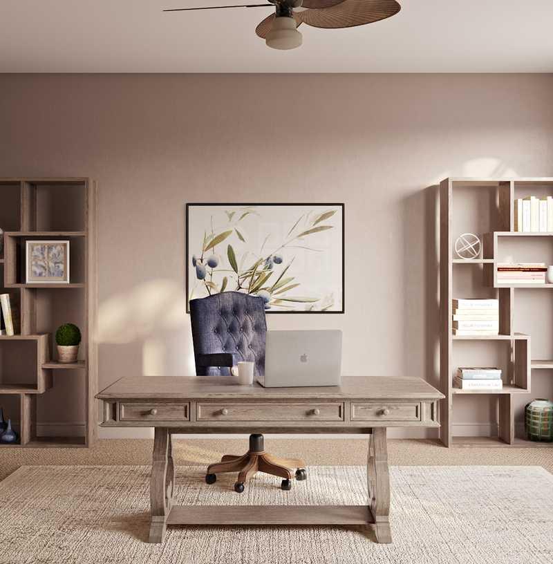 Classic, Farmhouse Office Design by Havenly Interior Designer Karen