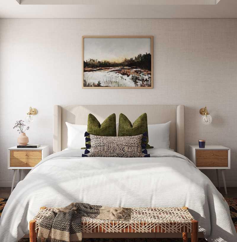Eclectic, Bohemian, Coastal Bedroom Design by Havenly Interior Designer Kelly