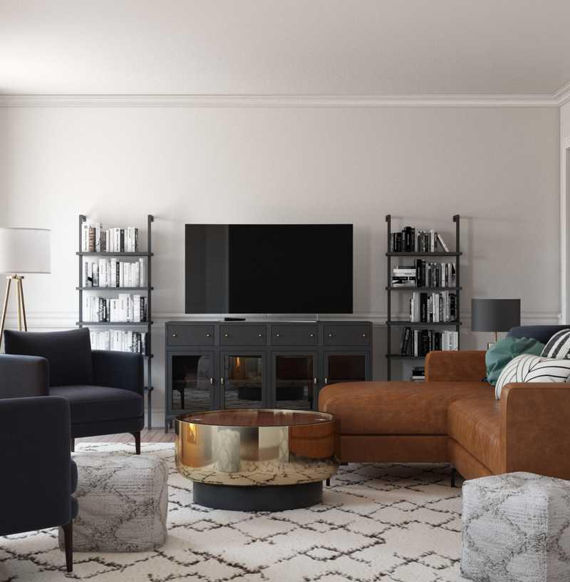 Modern, Rustic, Midcentury Modern Living Room Design by Havenly Interior Designer Sydney