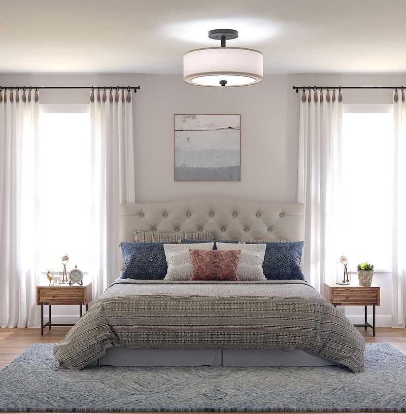 Bohemian, Farmhouse, Rustic Bedroom Design by Havenly Interior Designer Fendy