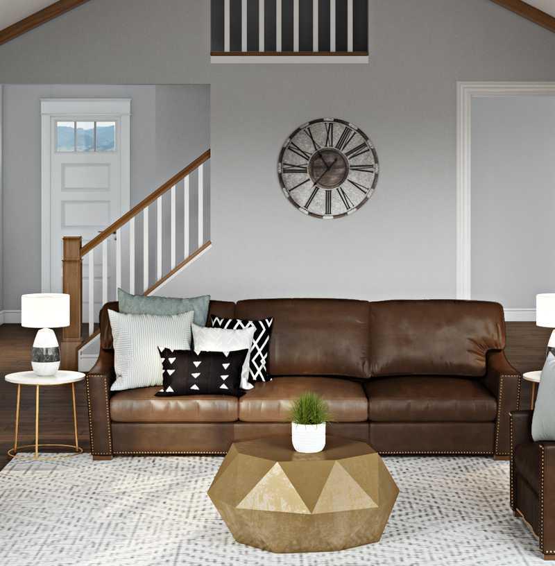 Contemporary, Transitional Living Room Design by Havenly Interior Designer Jonica