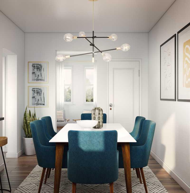 Eclectic, Bohemian, Midcentury Modern Dining Room Design by Havenly Interior Designer Amanda