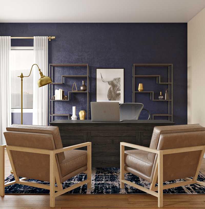 Modern, Midcentury Modern Office Design by Havenly Interior Designer Abigail