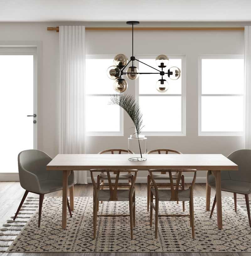 Midcentury Modern, Minimal, Scandinavian Dining Room Design by Havenly Interior Designer Matthew