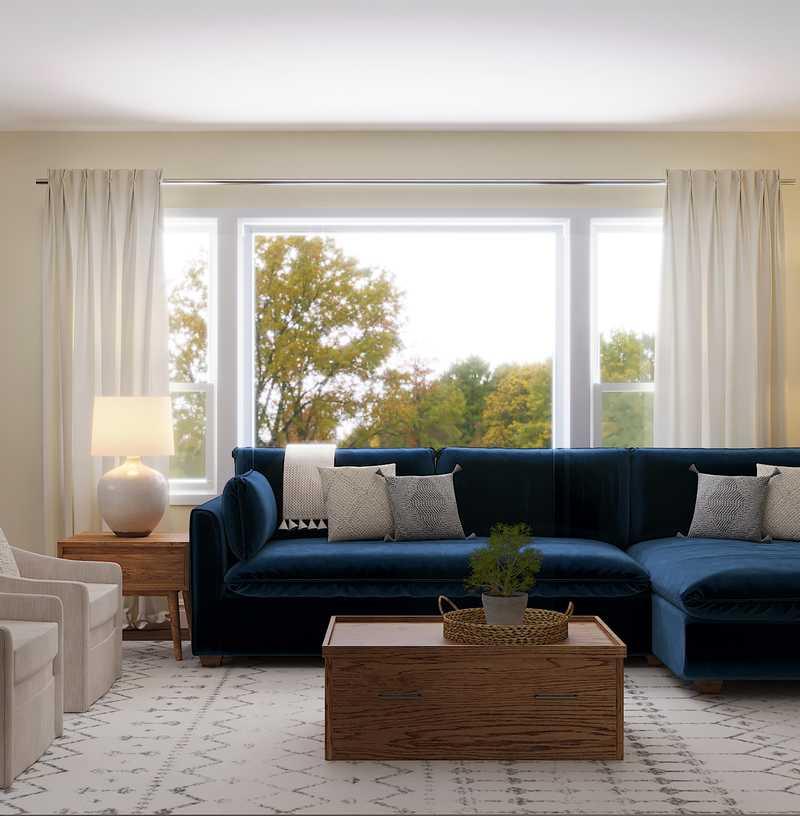 Classic, Coastal, Farmhouse, Transitional Living Room Design by Havenly Interior Designer Laura