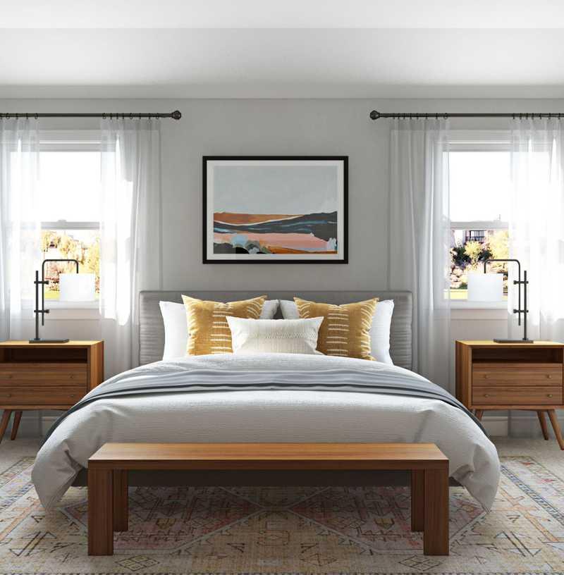 Modern, Midcentury Modern Bedroom Design by Havenly Interior Designer Nicolle