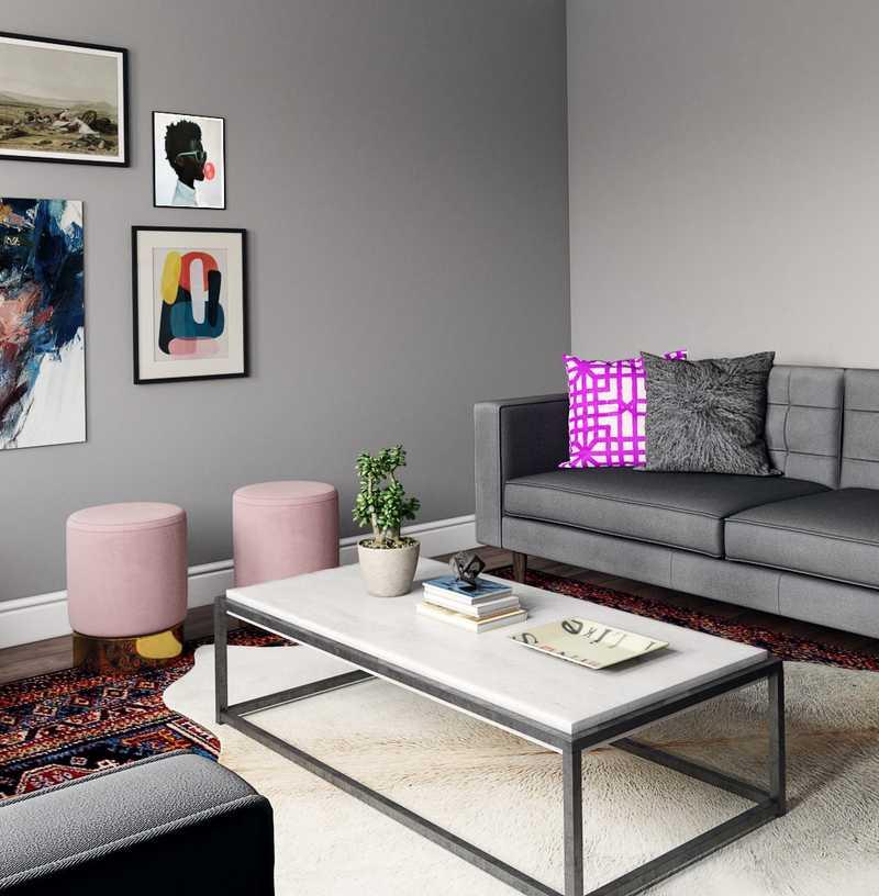 Contemporary, Industrial, Midcentury Modern Living Room Design by Havenly Interior Designer Annie