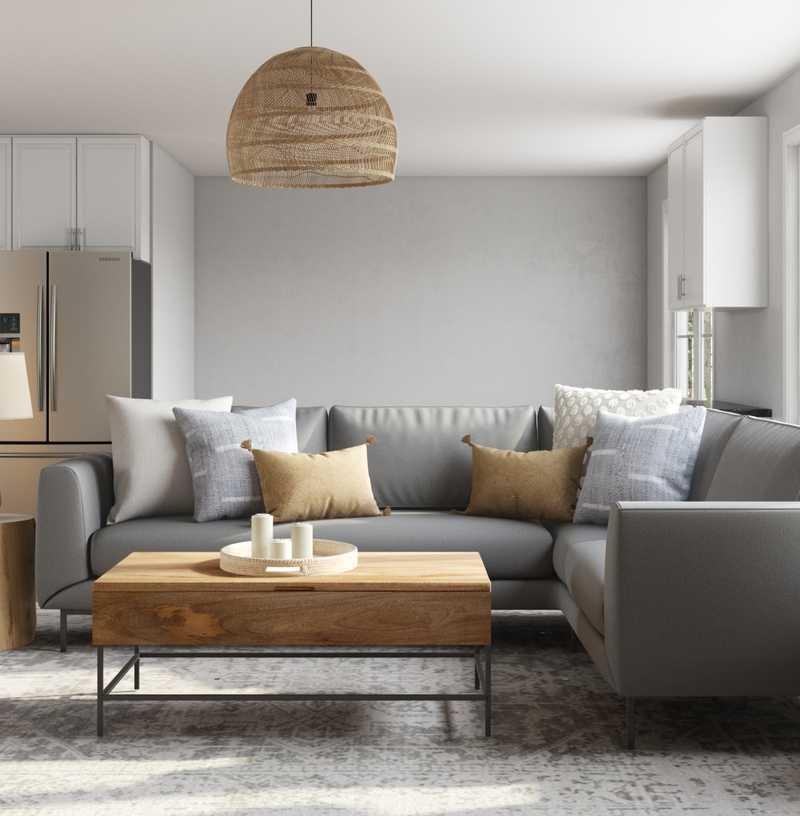 Bohemian, Midcentury Modern, Scandinavian Living Room Design by Havenly Interior Designer Madison