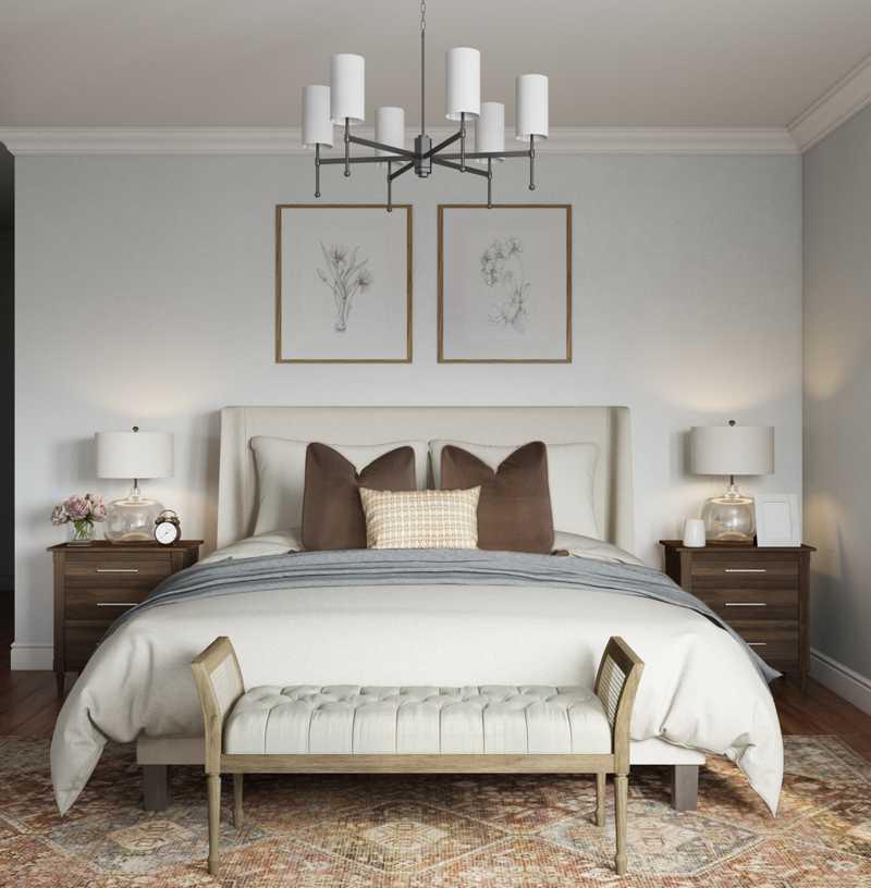 Coastal Bedroom Design by Havenly Interior Designer Elizabeth