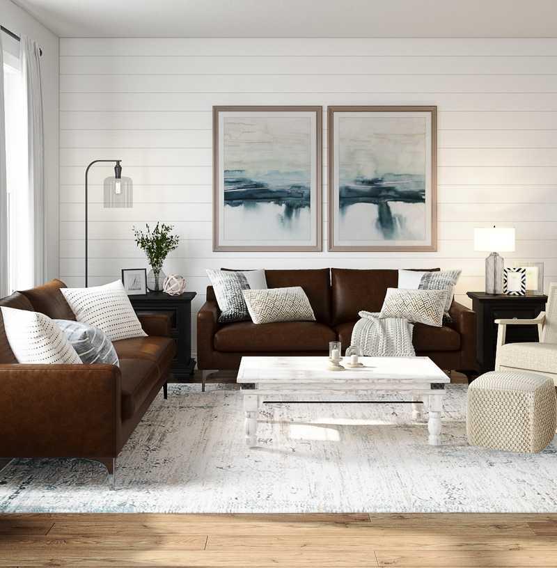 Modern, Farmhouse Living Room Design by Havenly Interior Designer Cathrine