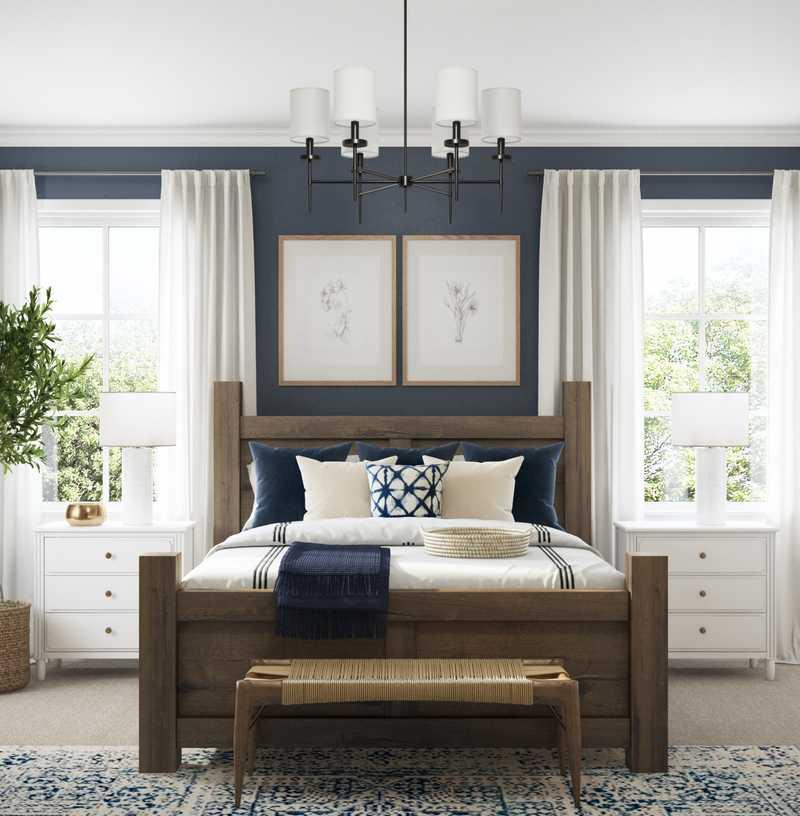 Farmhouse Bedroom Design by Havenly Interior Designer Amanda