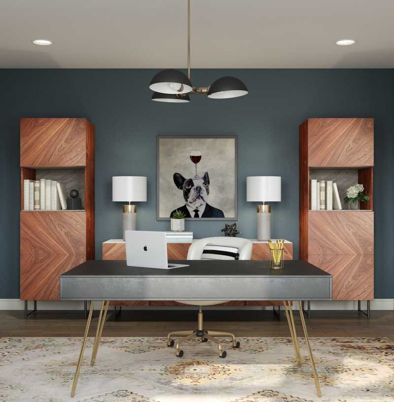 Contemporary, Modern, Transitional Office Design by Havenly Interior Designer Fendy