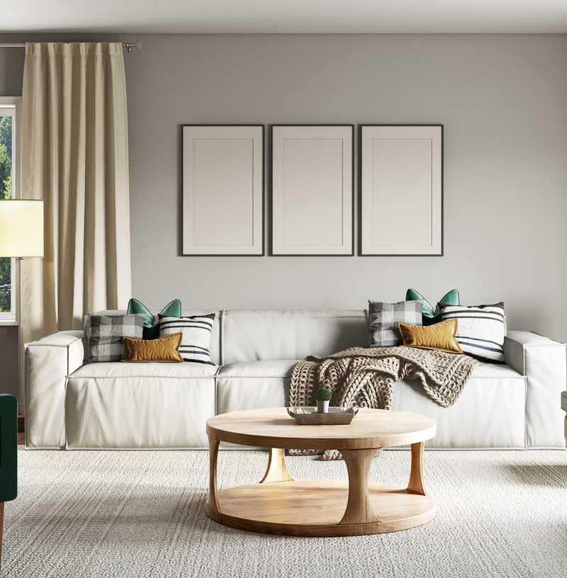 Modern, Farmhouse Living Room Design by Havenly Interior Designer Jonica
