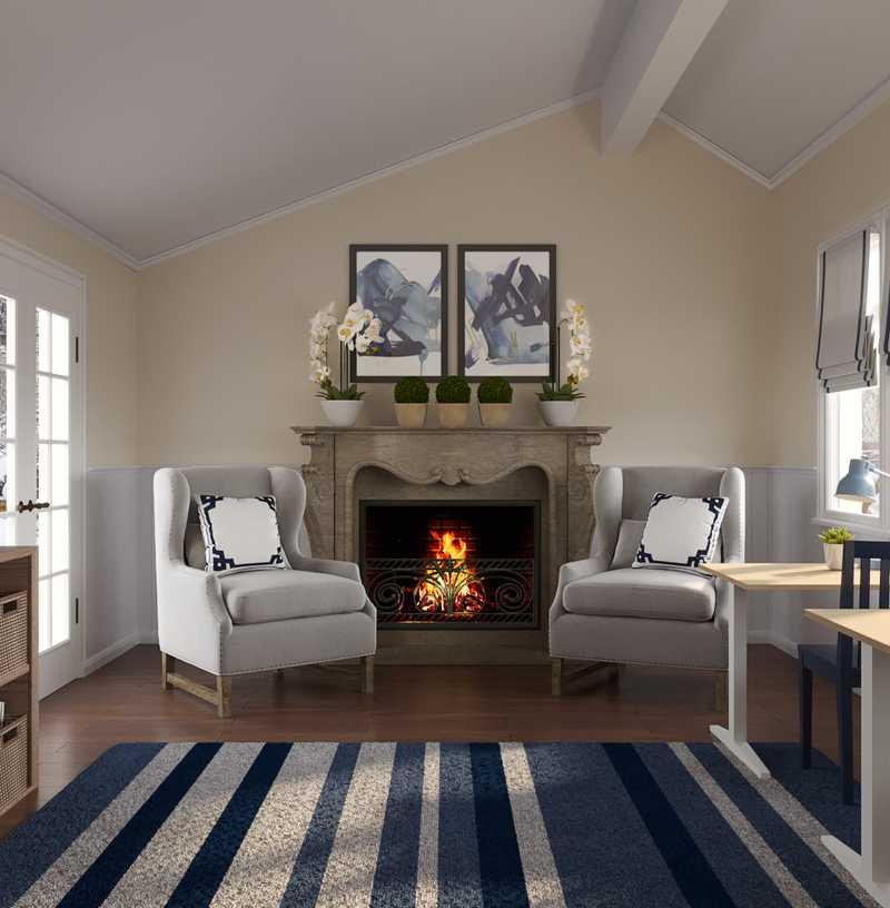 Traditional Living Room Design by Havenly Interior Designer Jessica