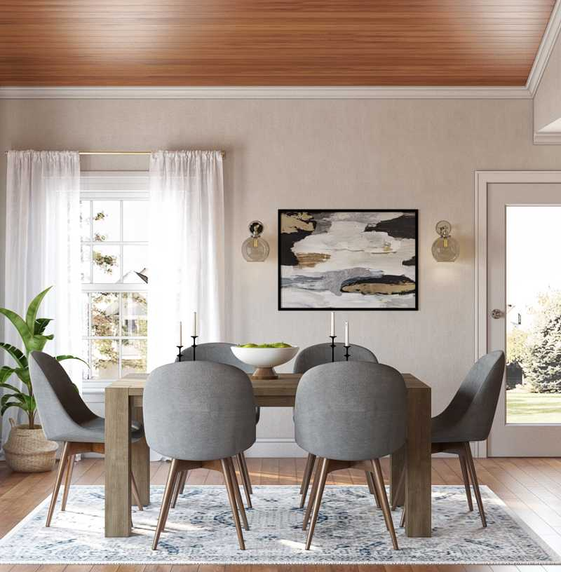 Eclectic, Bohemian, Midcentury Modern Dining Room Design by Havenly Interior Designer Rob