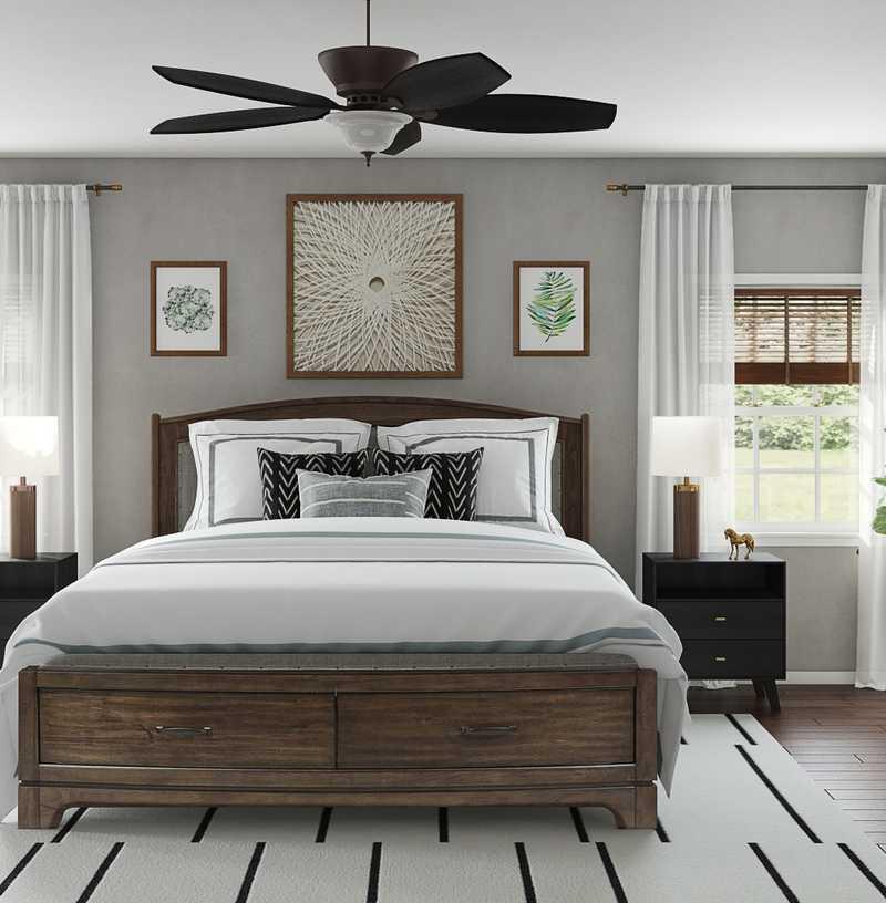 Contemporary, Rustic Bedroom Design by Havenly Interior Designer Moumita
