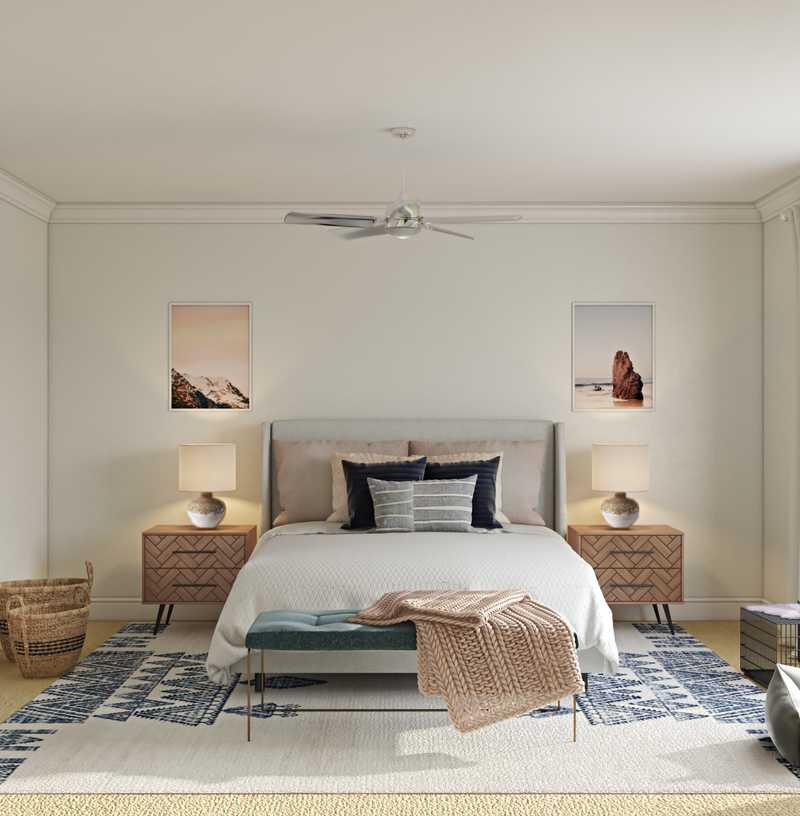 Modern, Eclectic, Bohemian Bedroom Design by Havenly Interior Designer Sophia