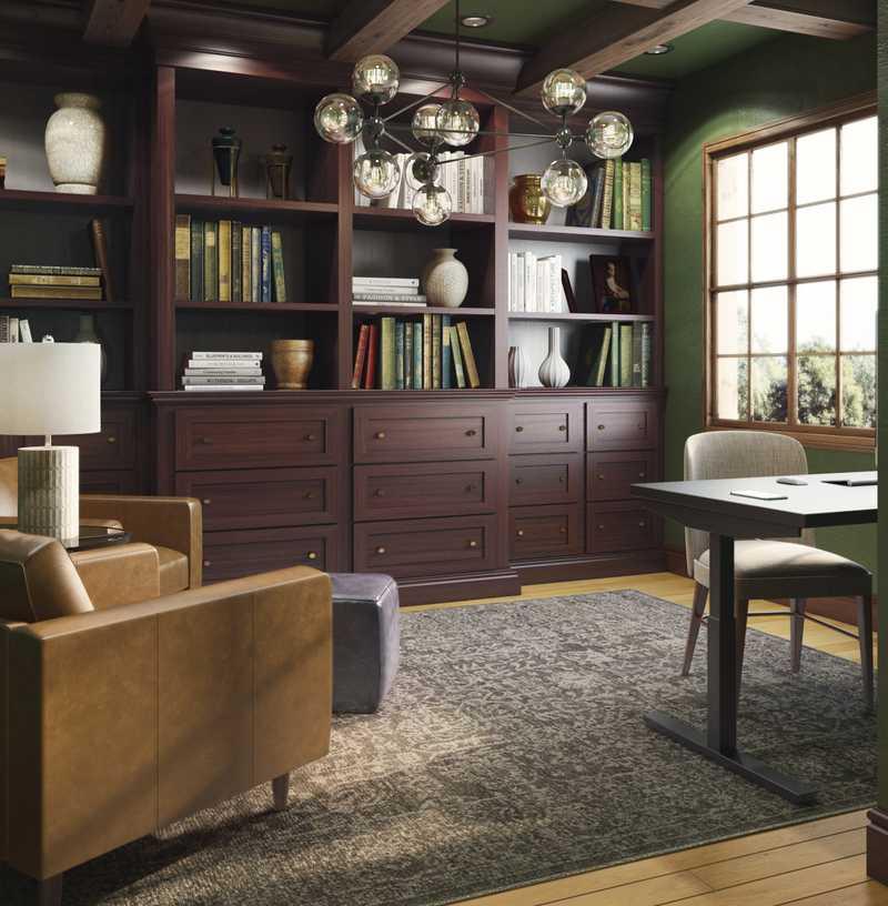 Modern, Midcentury Modern, Scandinavian Office Design by Havenly Interior Designer Jessie