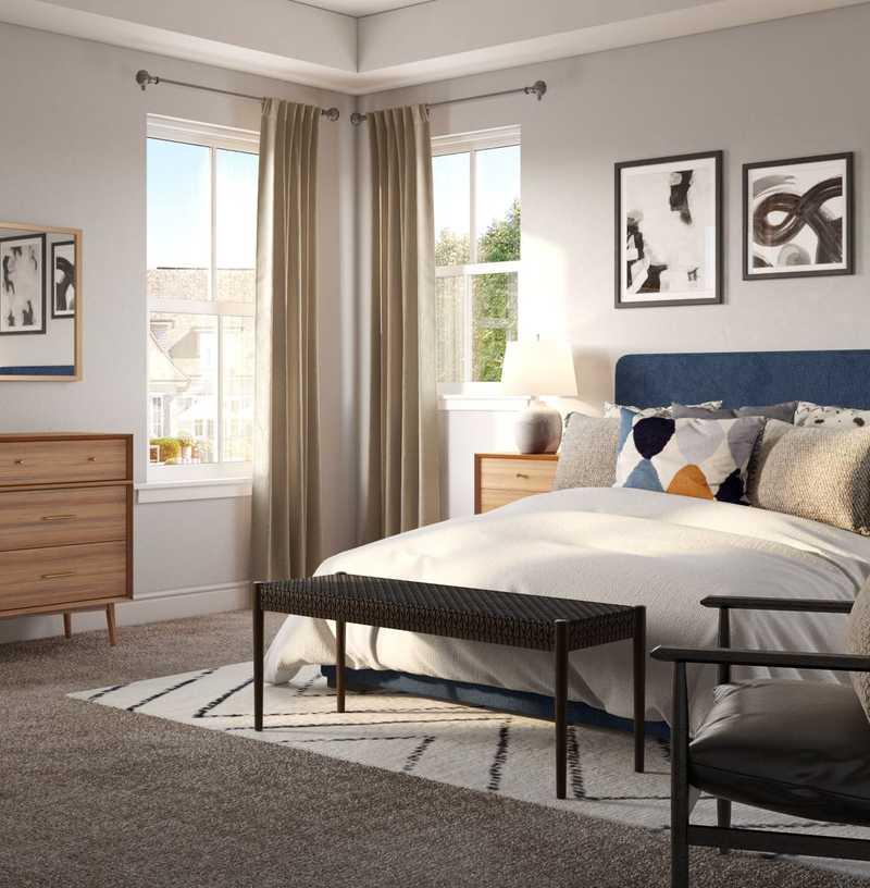 Midcentury Modern, Scandinavian Bedroom Design by Havenly Interior Designer Erin