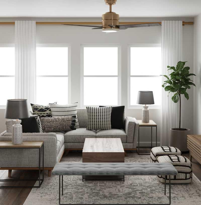 Midcentury Modern, Minimal, Scandinavian Living Room Design by Havenly Interior Designer Matthew
