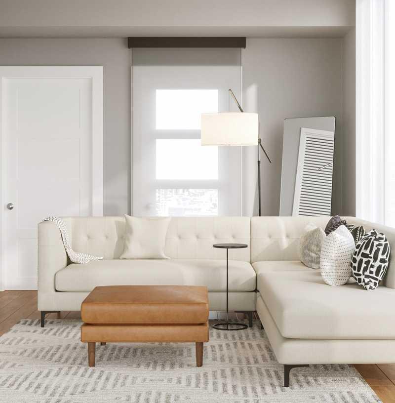 Contemporary, Modern, Bohemian, Scandinavian Living Room Design by Havenly Interior Designer Claire