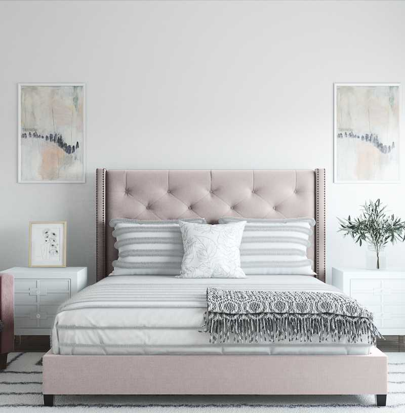 Eclectic, Bohemian, Glam, Farmhouse Bedroom Design by Havenly Interior Designer Cassie