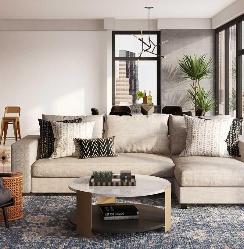 Modern, Glam Living Room Design by Havenly Interior Designer Levi