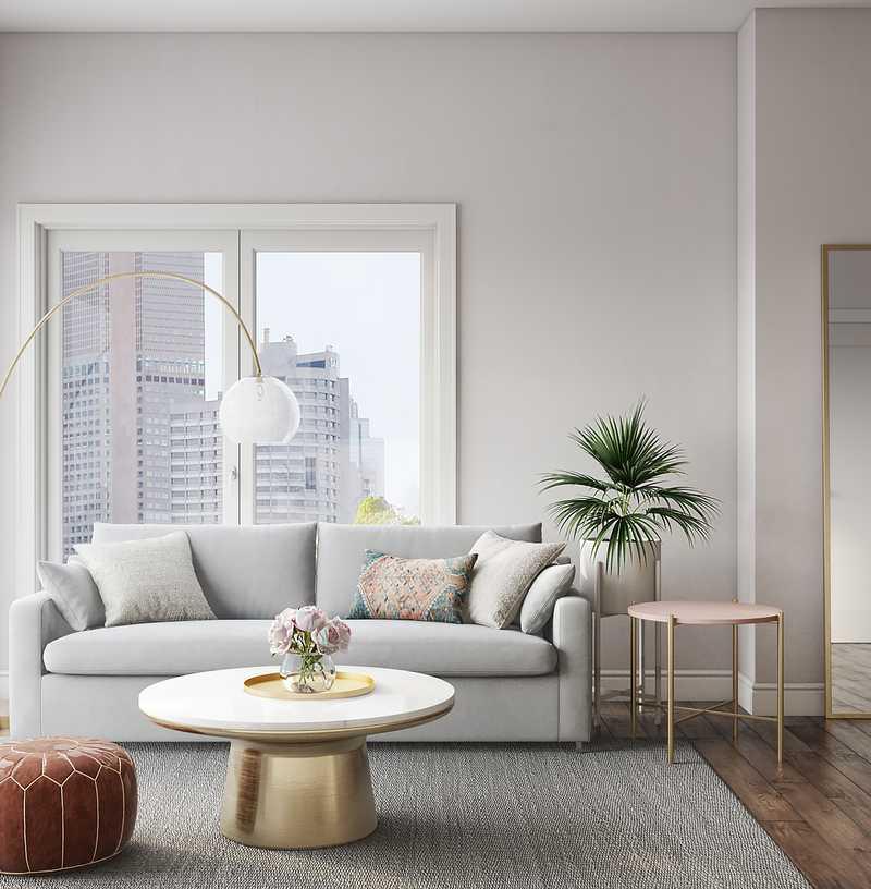 Modern, Glam Living Room Design by Havenly Interior Designer Bianca