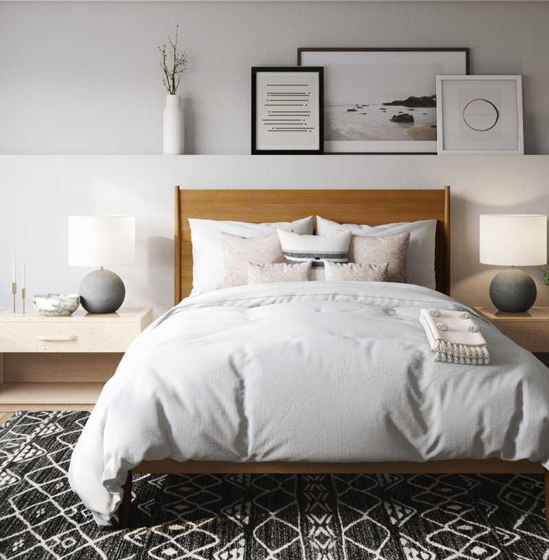 Modern, Midcentury Modern, Minimal, Scandinavian Bedroom Design by Havenly Interior Designer Sarah