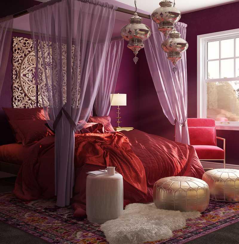 Eclectic, Bohemian, Glam Bedroom Design by Havenly Interior Designer Ghianella