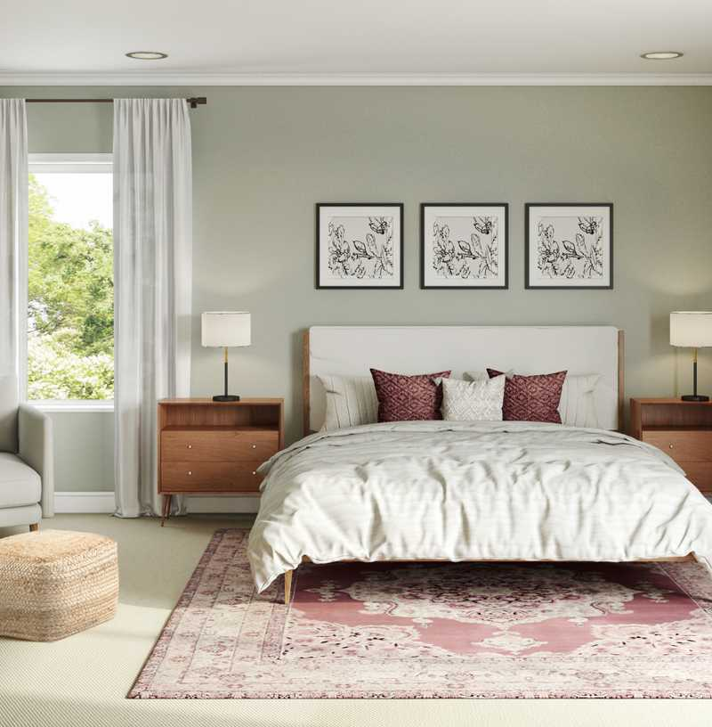 Modern, Southwest Inspired, Midcentury Modern Bedroom Design by Havenly Interior Designer Jessie
