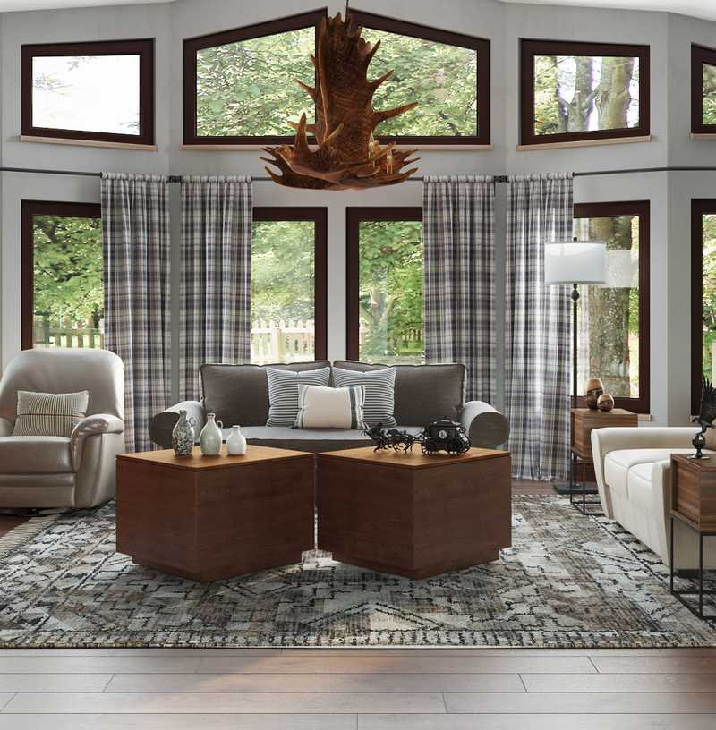 Farmhouse, Rustic, Country Living Room Design by Havenly Interior Designer Catrina