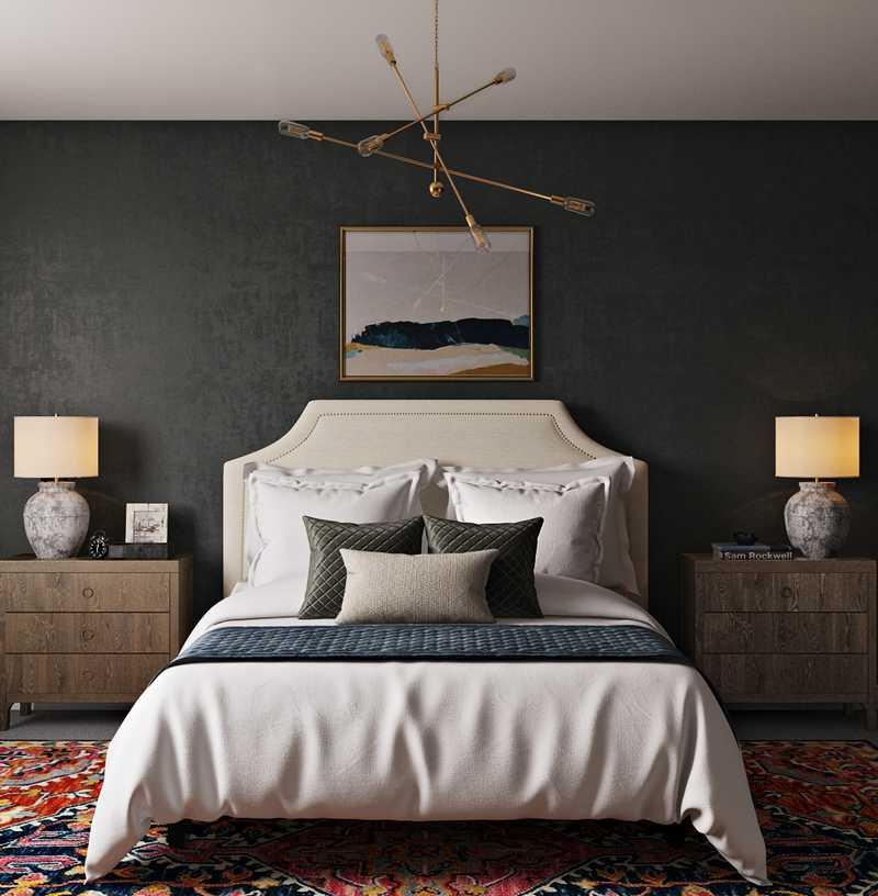 Modern, Bohemian Bedroom Design by Havenly Interior Designer Mai
