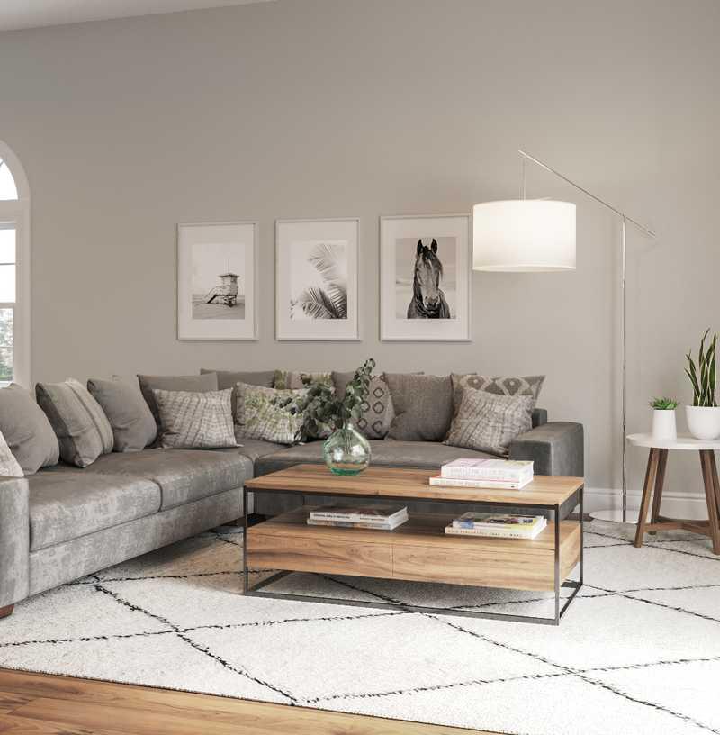 Contemporary Living Room Design by Havenly Interior Designer Kelsey