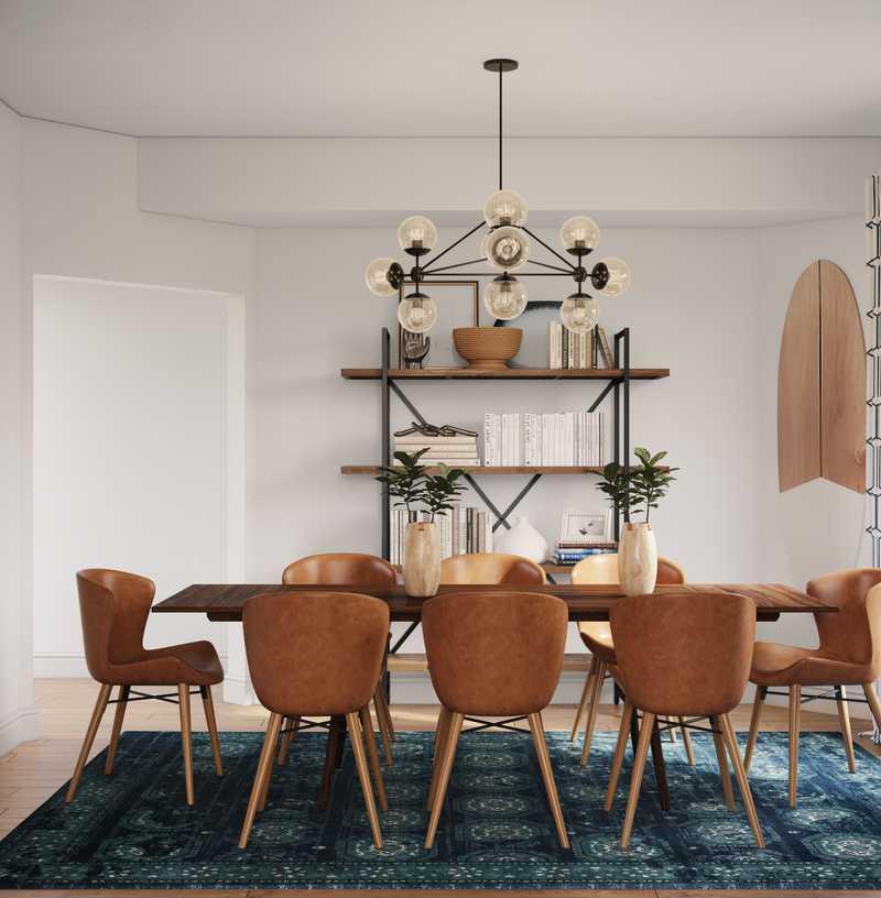 Eclectic, Glam, Midcentury Modern Dining Room Design by Havenly Interior Designer Natalie