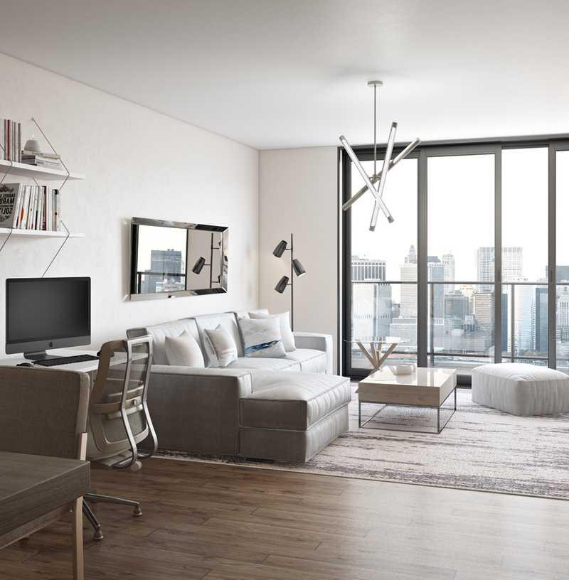Contemporary, Glam Living Room Design by Havenly Interior Designer Sharon