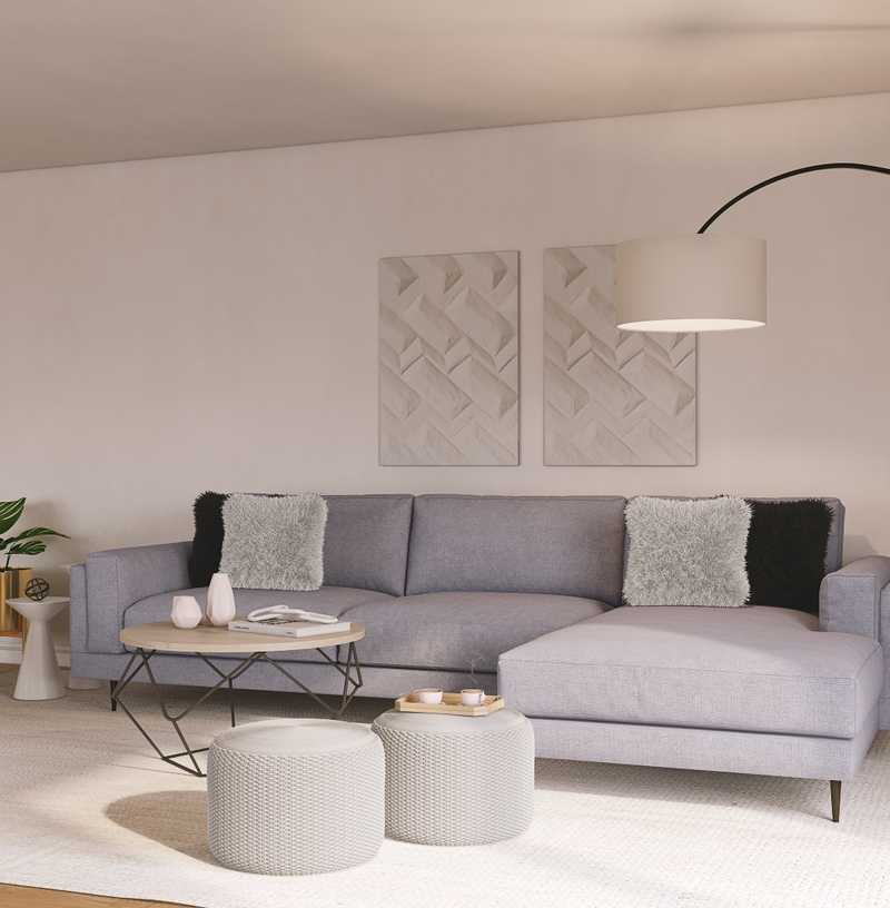 Modern, Scandinavian Living Room Design by Havenly Interior Designer Carolyn