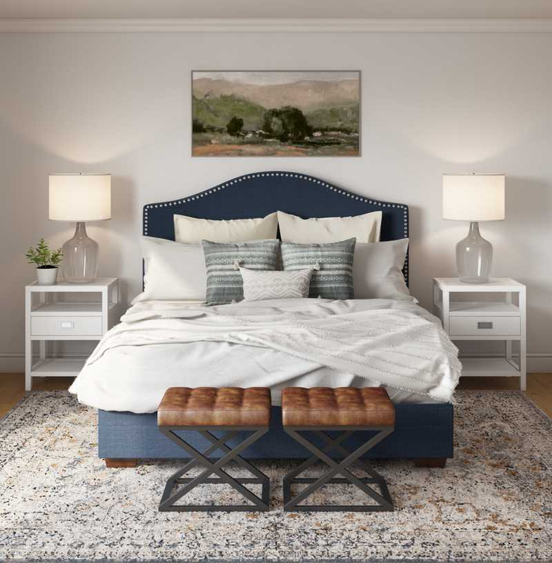 Eclectic, Transitional Bedroom Design by Havenly Interior Designer Natalie
