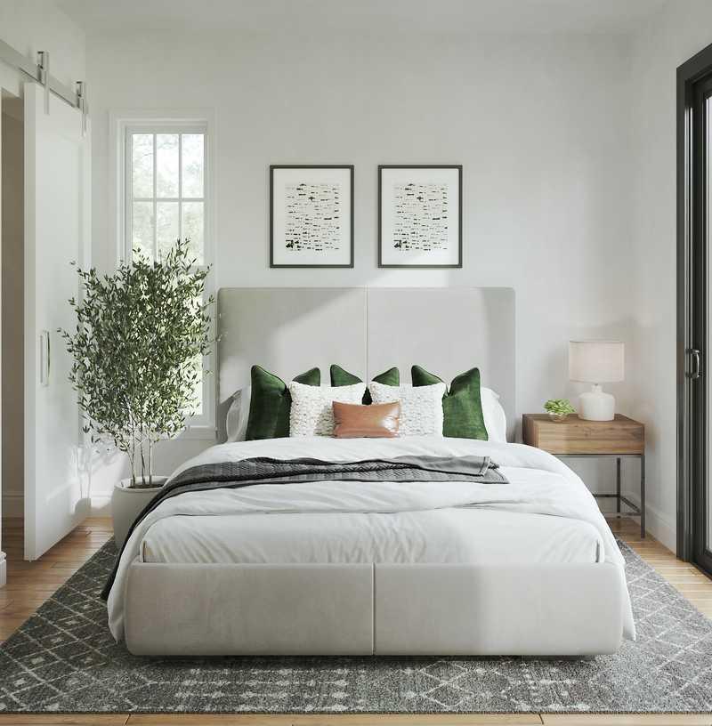 Contemporary, Rustic, Minimal Bedroom Design by Havenly Interior Designer Legacy