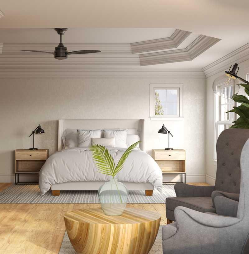 Coastal, Farmhouse Bedroom Design by Havenly Interior Designer Carly
